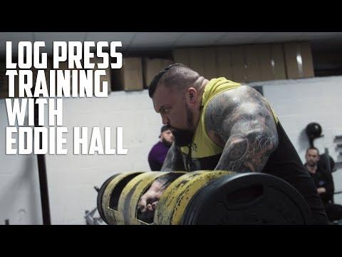 EDDIE HALL | Log Press and Shoulder Workout