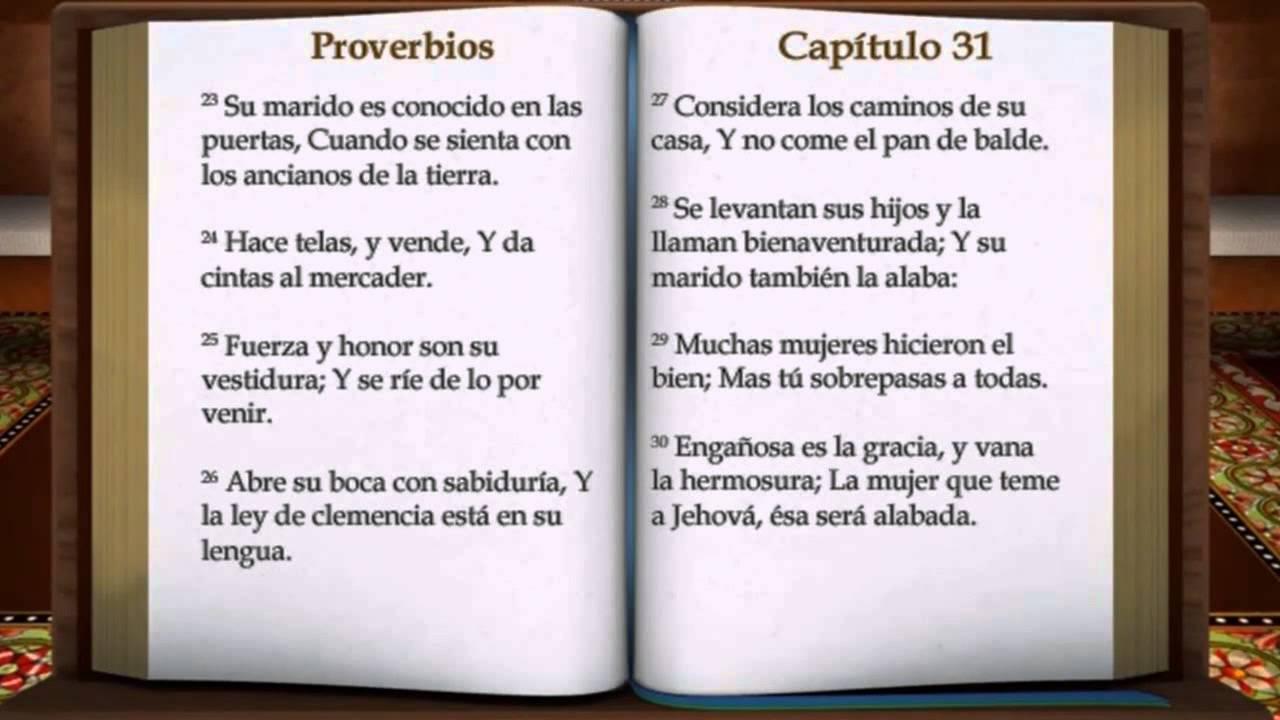Mujer Virtuosa Proverbios 31 10 31 - YouTube