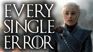 Every error in Game of Thrones Season 8