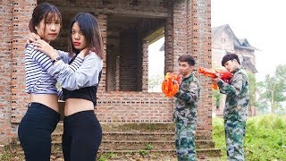 Nerf War: Warriors Squad ⚡ SNIPER GIRL Nerf Guns Betrayer Commando Rescue Maiden Nerf Movie