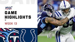 Titans vs. Colts Week 13 Highlights | NFL 2019