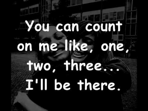Bruno Mars - Count on me lyrics