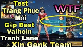 Liên Quân | Test Wonder Woman Trang Phục Thánh Chiến Gặp Ngay Best Valhein Đánh Cực Hay Gank Team