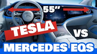Top 5 Mercedes EQS Features (from MKBHD) vs Tesla Model Y/3 - How Does Tesla Match Up?