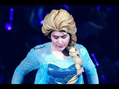 [CLOSE FANCAM]140919 SUPER JUNIOR SS6 FROZEN COSPLAY