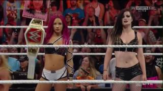 WWE Sasha Banks returns and faced Charlotte [RAW 06/20/16]