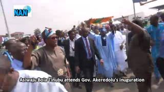 How Tinubu was received at Gov. Akeredolu's inauguration