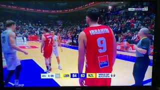 Lebanon 🇱🇧 Vs New Zealand 🇳🇿 FIBA WC Qualifiers, Fourth Quarter, Nuhad Nawfal Stadium~ 22 Feb 19