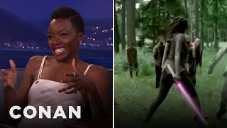 Danai Gurira Kicks Even More Ass With A Lightsaber  - CONAN on TBS