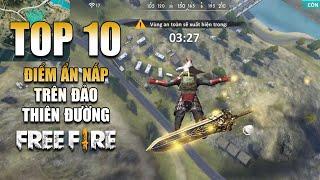 Free Fire | TOP 10 chỗ ẨN NẤP hiệu quả bản đồ Đảo Thiên Đường | Rikaki Gaming