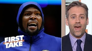 Kevin Durant's injury could wind up benefiting the Warriors' future - Max Kellerman   First Take
