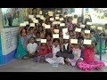 Students write letters to Parents to build toilet at Homes in Prakasam district