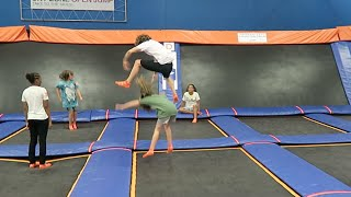 Jumping Over Kids!
