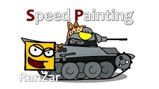 Speed Paint Леопард. RanZar. Рандомные Зарисовки.