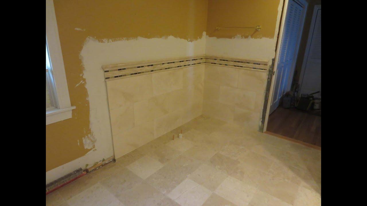 Travertine Tile Bathroom Time Lapse Youtube