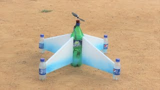 How to make a aeroplane - flying bottle airplane