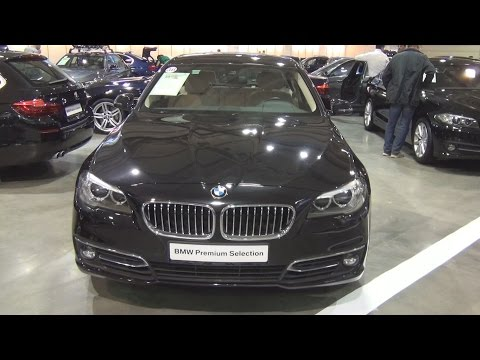 BMW 520d xDrive Sedan Black Sapphire (2013) Exterior and Interior in 3D