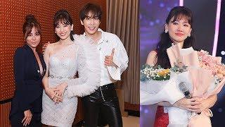 Dàn nghệ sĩ đội mưa xem concert của Hari Won