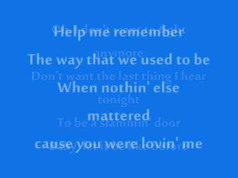 Help Me Remember (Album Version)