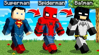 Minecraft But You Shapeshift to a Superhero Every Minute...