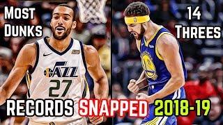 10 NBA Records BROKEN In The 2018-19 Season