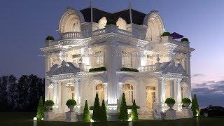 Thiết kế biệt thự 3 tầng kiểu Pháp tại Biên Hòa đẹp tráng lệ