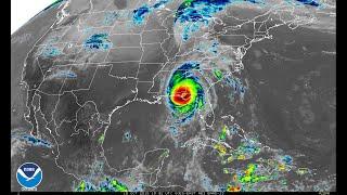 Satellite imagery of Hurricane Michael