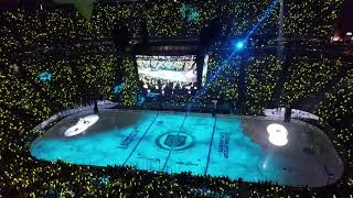 Another hyped pregame intro - Game 3 Vegas Golden Knights hosting the San Jose Sharks