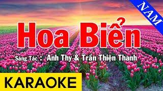 Karaoke Hoa Biển Tone Nam Nhạc Sống - Beat Chuẩn