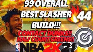 "Best 99 overall ""Slasher"" Build!  44 Game Win Streak ALL ISO - 1v1 Court Stage"