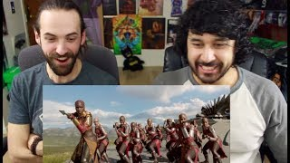 Marvel Studios' BLACK PANTHER - Warriors of Wakanda  REACTION!!!