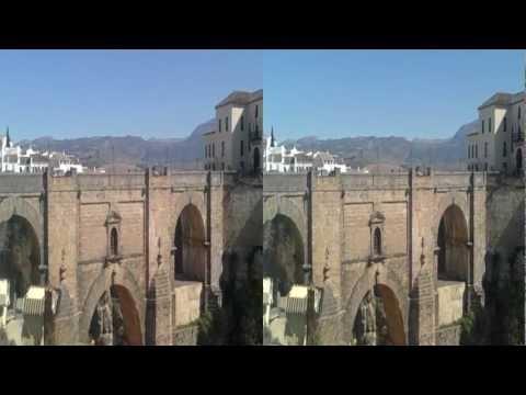 Puente Nuevo. Tajo de Ronda. 3D HD SBS