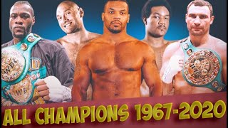 1964-2021 All Heavyweight Champions! How Many Will You Name?!?!