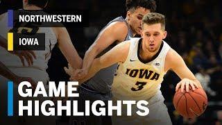 Highlights: Jordan Bohannon Buzzer Beater Bounces 'Cats | Northwestern vs. Iowa | B1G Basketball