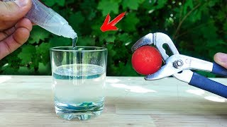 EXPERIMENT: Glowing 1000 degree METAL BALL vs Clear Glue