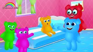 Cute Mega Gummy Bears Quer Ter Sorvete Dedo Família Canção Dos Desenhos Animados Coleção De Vídeos