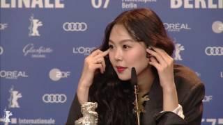17.02.19 베를린영화제 은곰상 여우주연상 수상 후 기자회견 '김민희(Kim Min hee)'