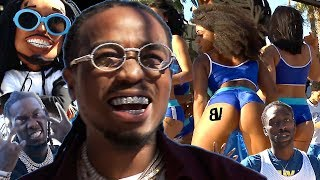 Quavo HUNCHO HOOPS Celebrity Game & Music Video! Offset, Quavo, FamousLos & More TURN UP in DTLA!