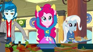 MLP-EQG:Equestria girls Helping Twilight win the crown (Cafeteria song)
