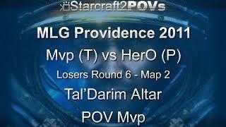 SC2 WoL - MLG Providence 2011 - Mvp vs HerO - LR6 - Map 2 - Tal'Darim Altar - Mvp