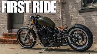 Honda Shadow Bobber | First Ride on Warhorse