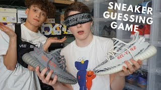 HYPEBEAST SNEAKER GUESSING GAME!!! *BLINDFOLDED*
