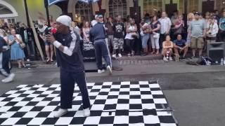 New Orleans Bourbon Street Performance action dance demonstration Dragon Master Showcase