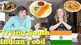 AMERICANS TRY SOUTH INDIAN FOOD - Dosa, Uttapam, Chicken Chettinadu