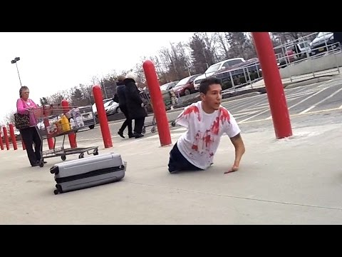 @ JoeySalads Bloody Body in Suitcase Prank