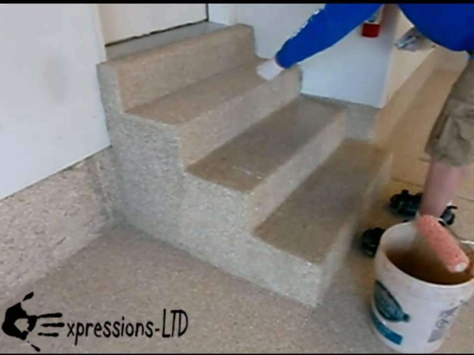 Epoxy Coating Garage Floor With Acrylic Flake Youtube