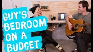 Under $300 Bedroom Makeover ... FOR A GUY | Mr. Kate Decorates on a Budget