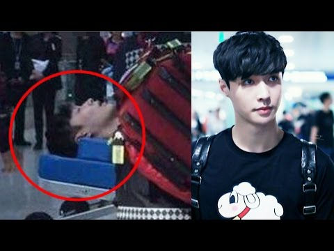 EXO's Lay faints at Incheon airport
