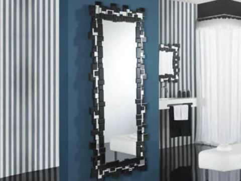 Decoracion de interiores espejos modernos de cristal for Espejos redondos para decoracion