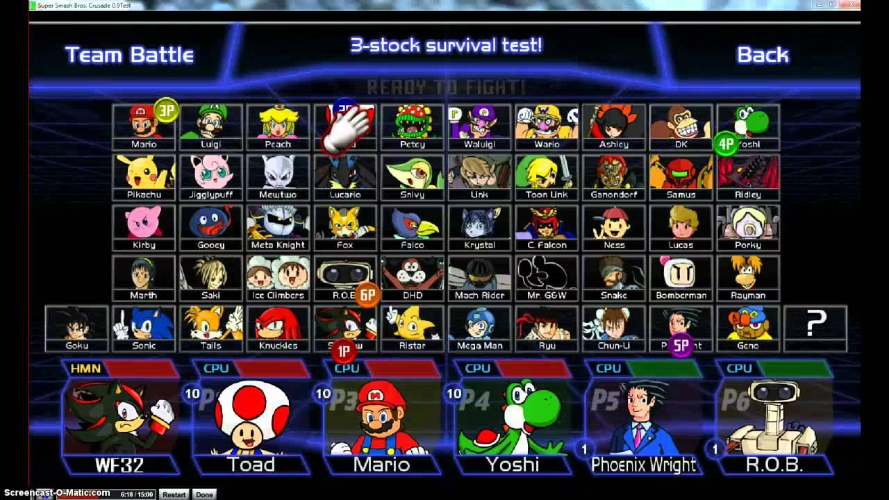 Super Smash Bros Crusade V0 9 Test Demo First 15 Minutes